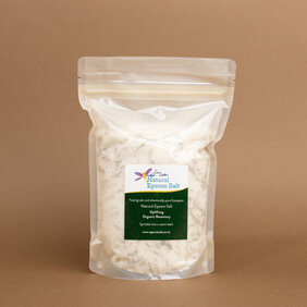 750g compostable bag of Natural Epsom Salt with Organic Rosemary