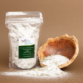 600g of Natural Epsom Salt with Uplifting Organic Rosemary